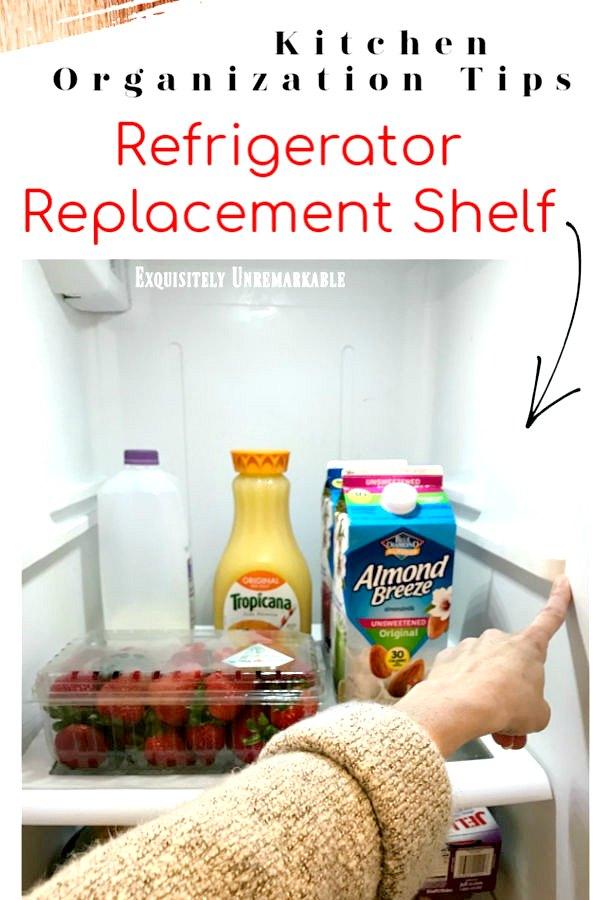 Refrigerator Replacement Shelf