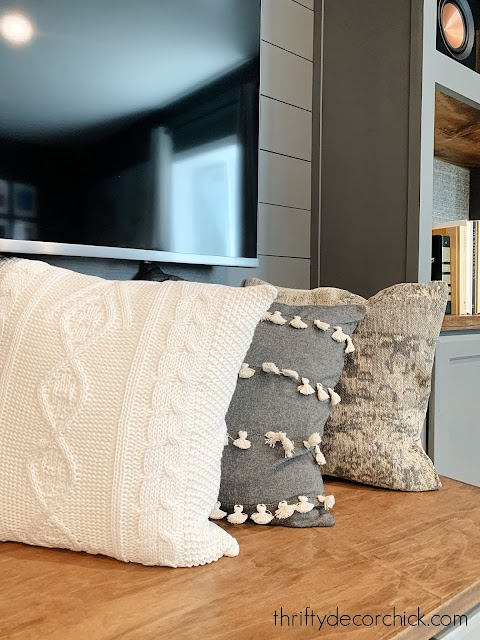hobby lobby gray cream pillow covers