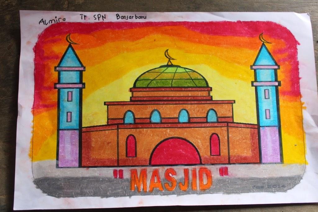 Ahmedatheism Hasil Mewarnai Gambar Masjid