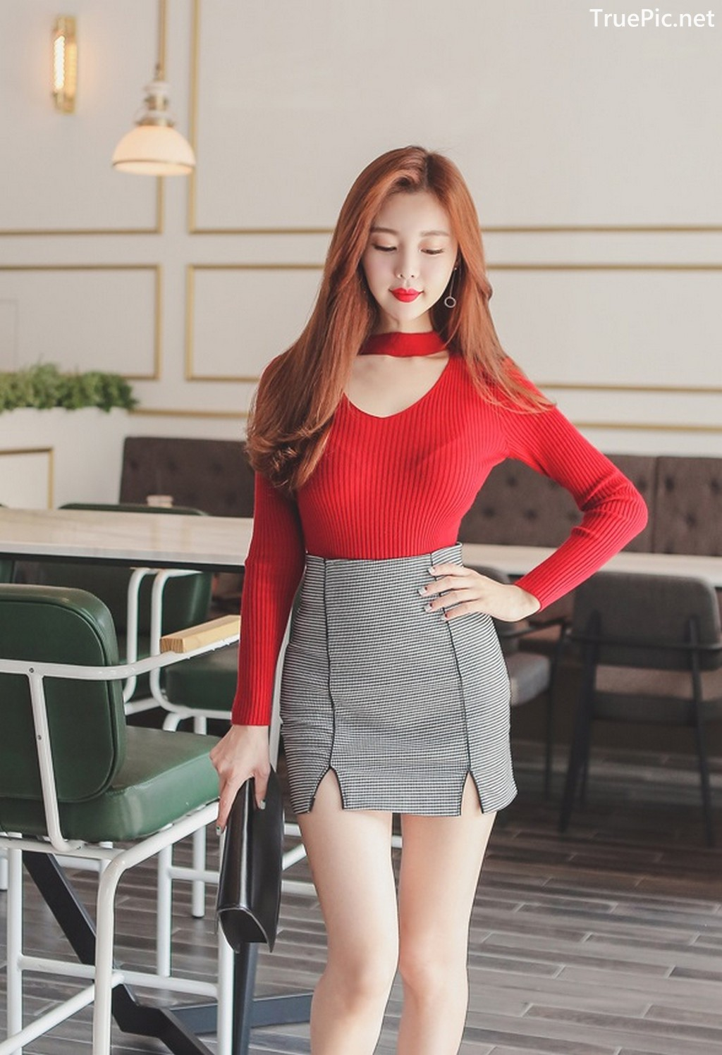Image Korean Fashion Model - Hyemi - Office Dress Collection - TruePic.net - Picture-6