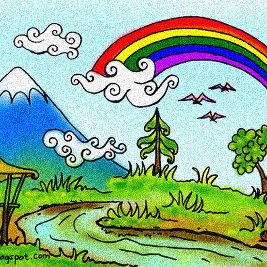 Mewarnai Gambar Pelangi Untuk Anak Tk Gambar Mewarnai Hd