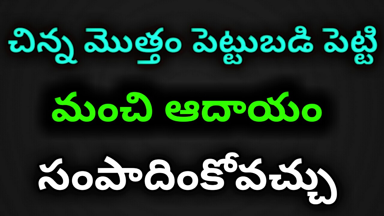 Business ideas telugu 2018 - small scale business ideas in telugu -  business ideas telugu