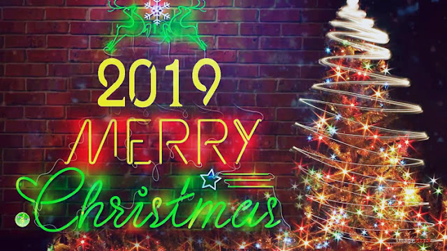 Merry Christmas 2019 greeting card  for family and friends
