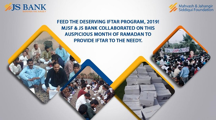 JS Bank & MJSF collaborate to serve Iftar for the Underprivileged