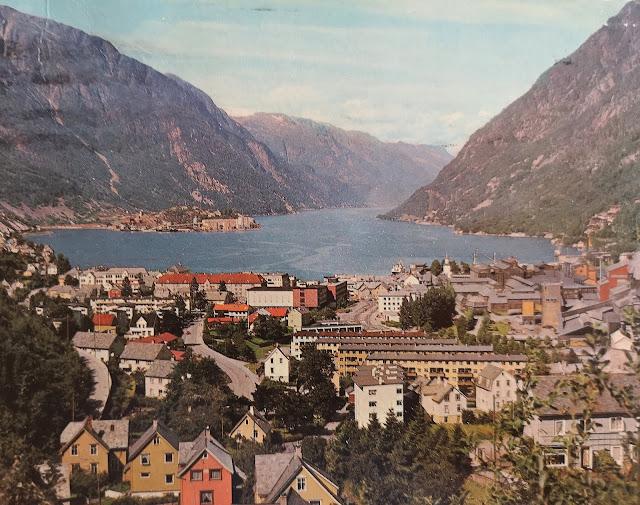 Ørsta, Norvegia, cartolina del 1979