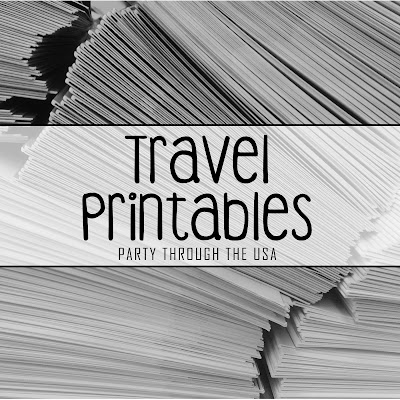 "Picture of a stack of papers with text overlay that says ""Travel Printables"""