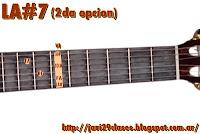 acordes de guitarra con séptima menor o dominante de MIb