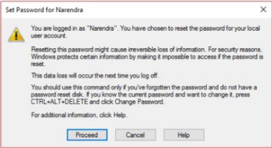 لتغيير كلمة مرور Windows