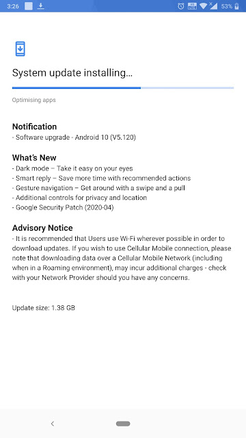 Nokia 8 Sirocco receiving Android 10 update along with April 2020 Android Security Patch