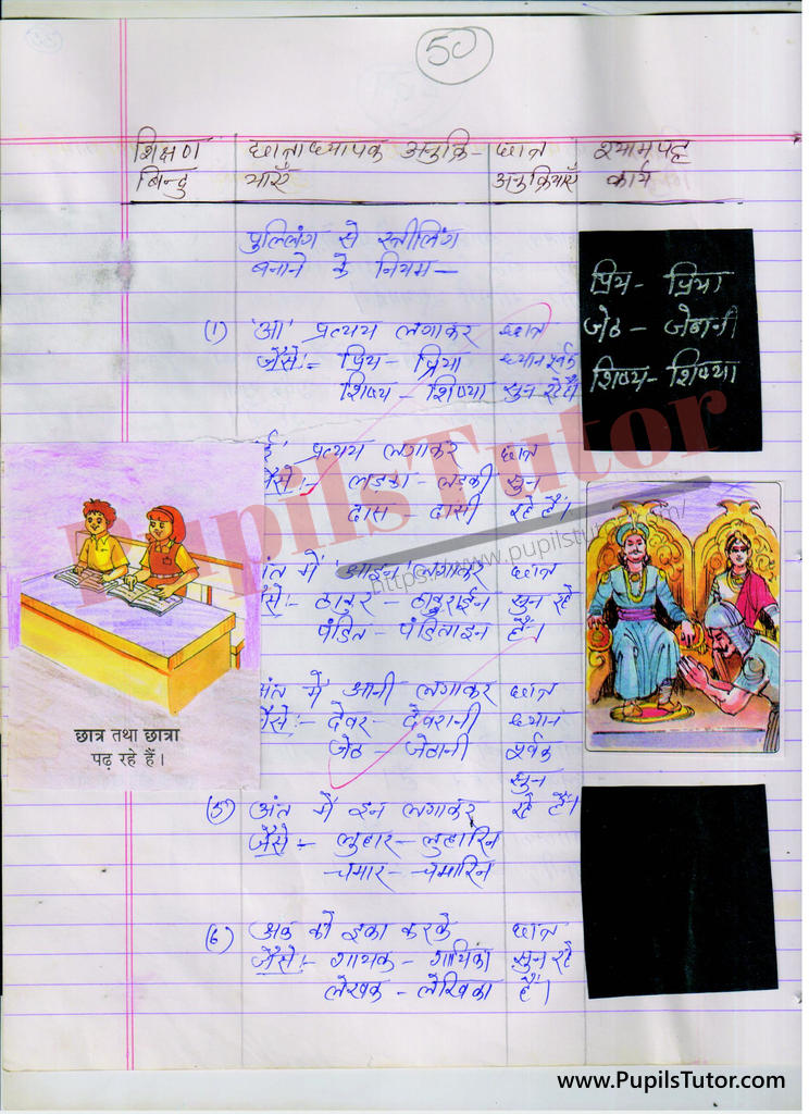 ling par Lesson Plan in Hindi for BEd and DELED