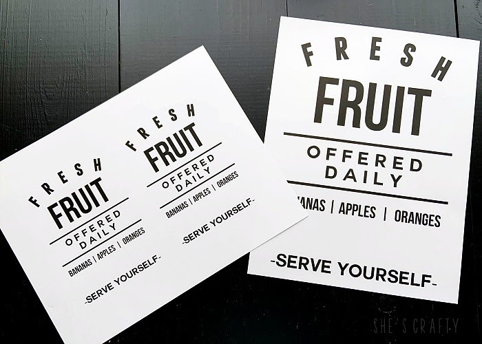 free printable Fresh Fruit Printable for Summer