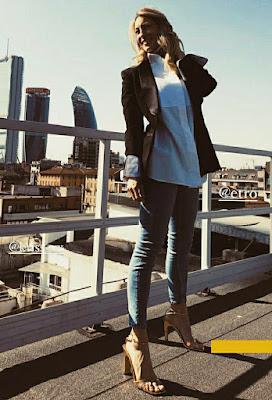 mia Ceran foto 28 febbraio abbigliamento