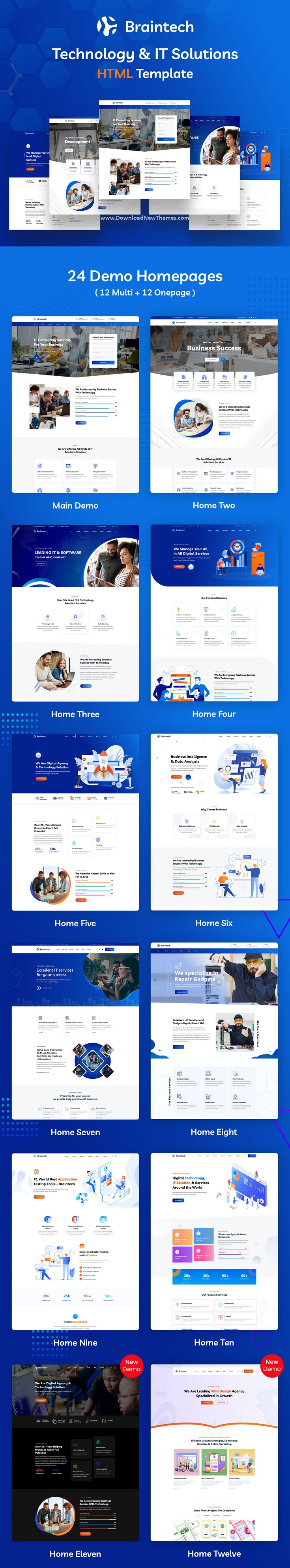 Technology and IT Solutions Bootstrap Template