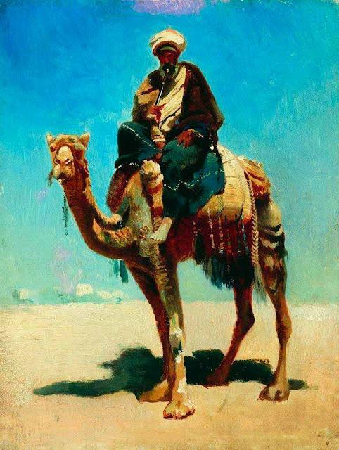Василий Васильевич Верещагин - Араб на верблюде. 1869-1870