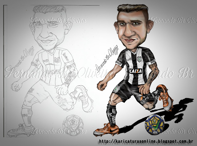 Esboço e Caricatura Rafael Moura Figueirense 2016