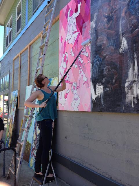alberta art, alberta arts district, female muralists, female street artists, feminist art, portland feminist, portland murals, portland street art, portland women artists, portland muralist, mural collaboration