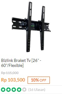 Harga Bracket TV Bizlink LED / LCD 26-60 Inchi