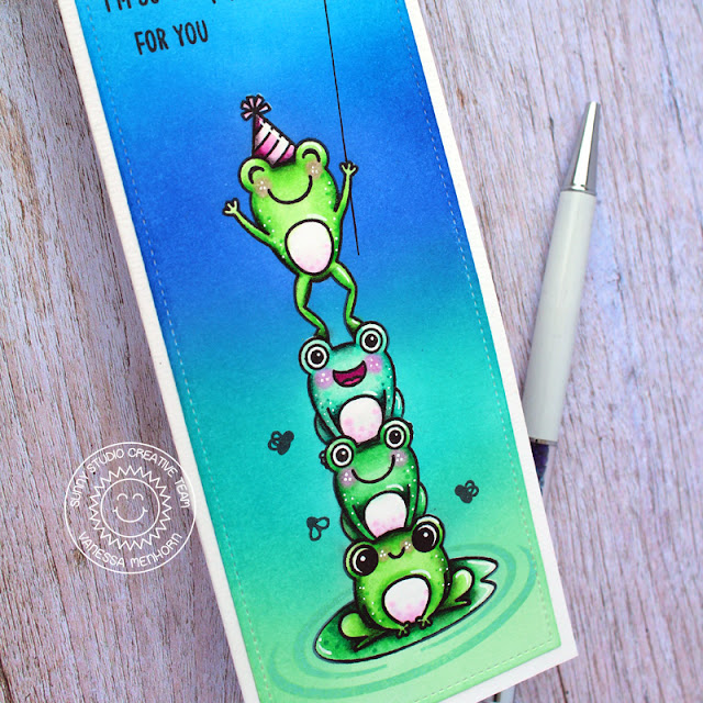 Sunny Studio Stamps: Feeling Froggy Froggy Friends Everyday Card by Vanessa Menhorn