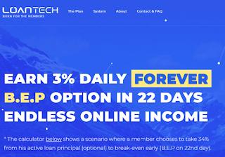 EARN 3% DAILY FOREVER (LOANTECH)