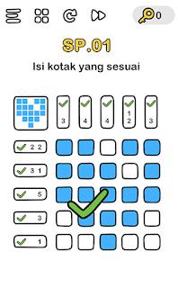 Isi kotak yang sesuai, kunci jawaban level SP.01 Brain out