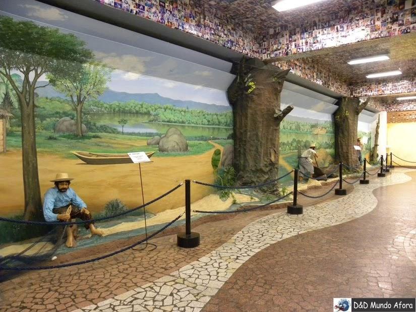 Representação dos pescadores que retiraram a imagem de Nossa Senhora Aparecida do Rio Paraíba do Sul