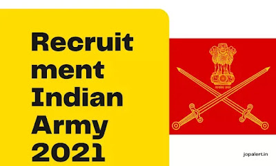 Recruitment Indian Army 2021