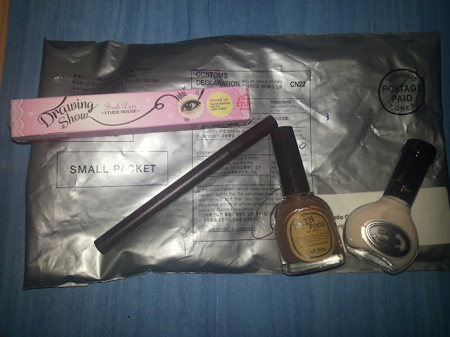 haul coreano eyeliner etude house drawing show brush