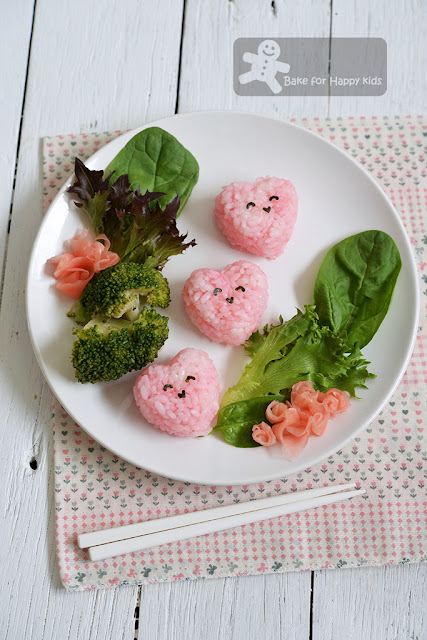 Happy Heart Sushi for Valentine's Day