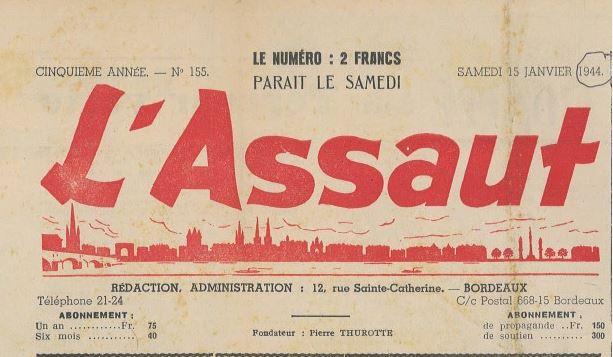 HILH DE GAY nom de plume de Georges Despaux dans l'Assaut (1942-1943) journal du P.P.F.