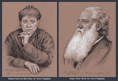 Helena Petrovna Blavatsky. Henry Steel Olcott. Theosophical Society. by Travis Simpkins