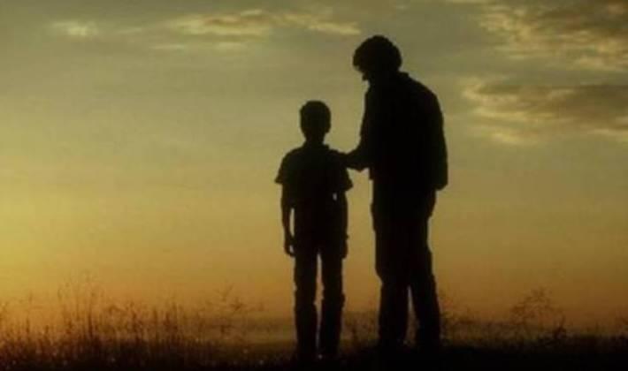 Hijo con su padre
