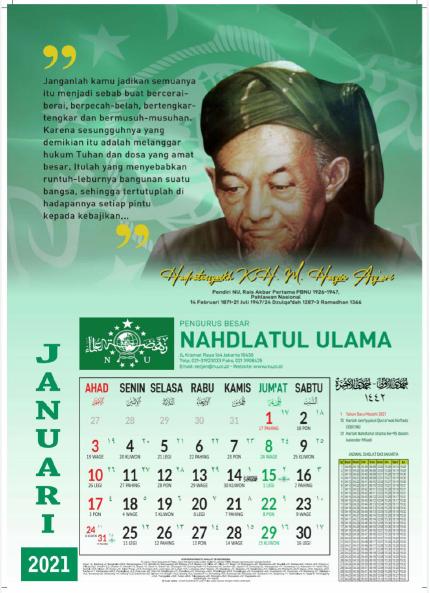 [Gratis Download] Kalender Nahdlatul Ulama (NU) 2021 Masehi