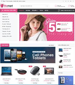 Giao diện blog bán hàng Siêu thị Bizmart bản AJAX