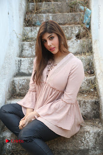 Telugu Actress Aditi Singh Stills in Leather Pants at Nenu Kidnap Iyanu Movie Press Meet  0153.JPG
