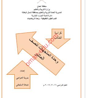 كراسة الطالب / وحدة المتجهات للصف العاشر الفصل الثاني