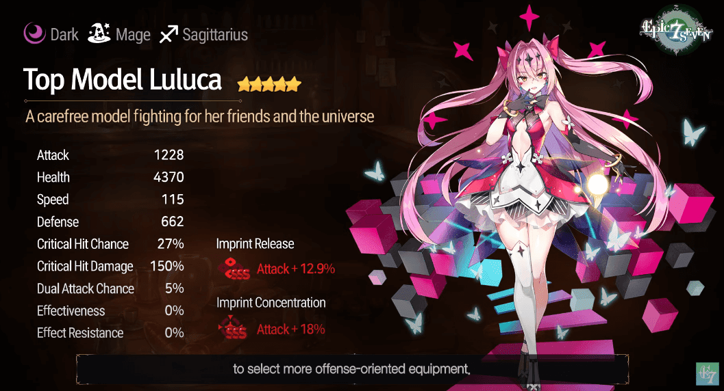 Epic Seven - Top Model Luluca imprint