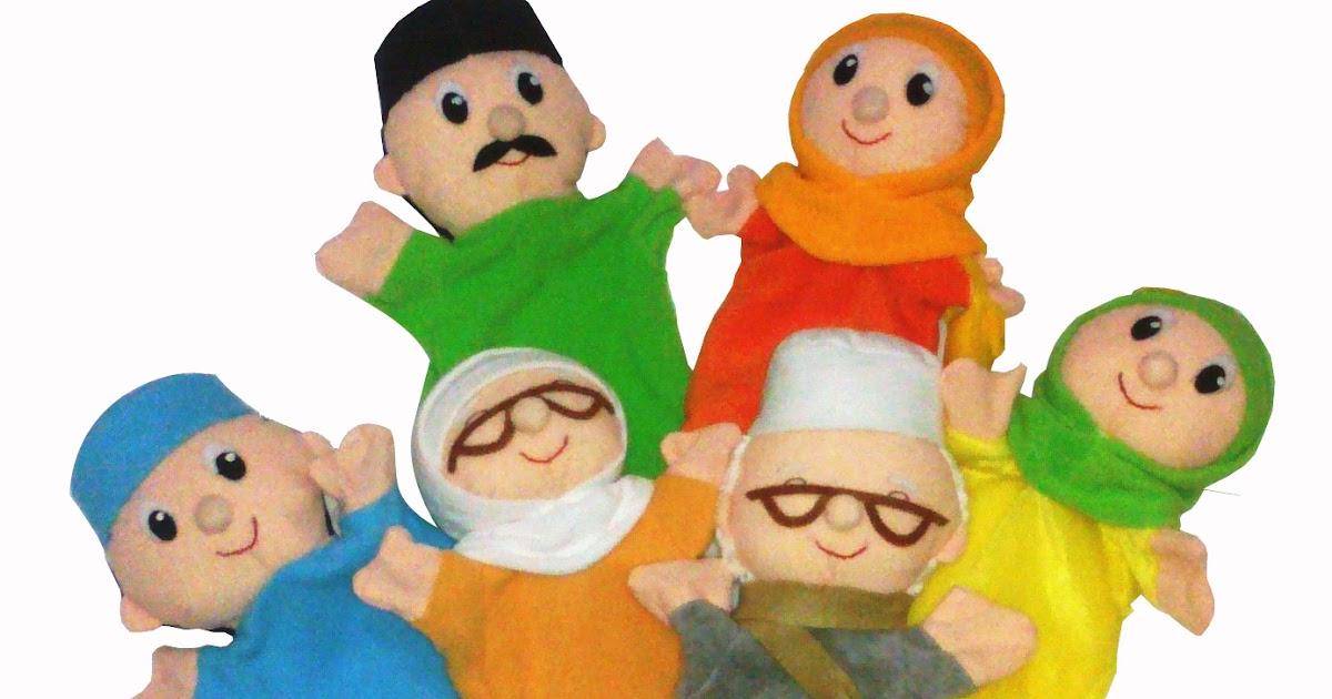 Boneka Leapfrog Terbaru: Buatan Tsabita Boneka: Boneka Tangan Keluarga Stock Terbaru