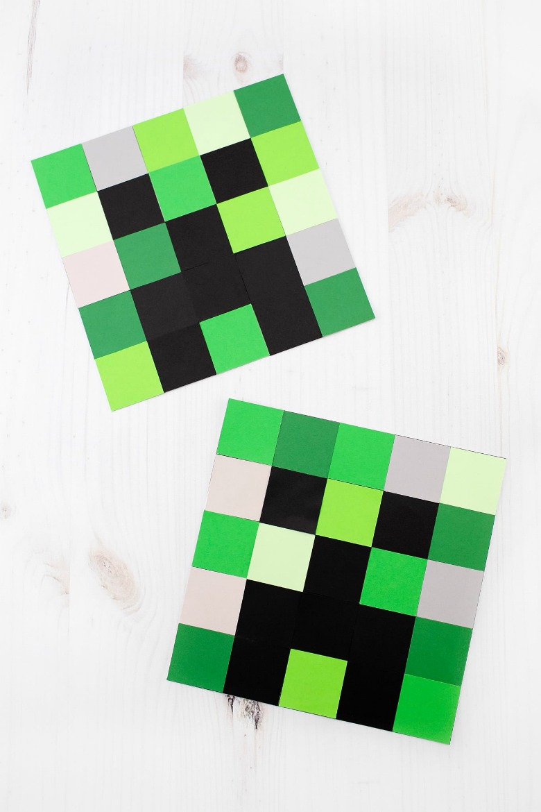 minecraft creeper paper craft for kids