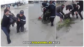 (بالفيديو) مشهد مرعب لحظة العثور على الشابة #مريم_الذهبي بعد سقوطها في #بالوعة.. بالنفيضة / سوسة