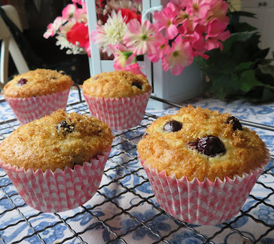 Four Perfect Blueberry Muffins