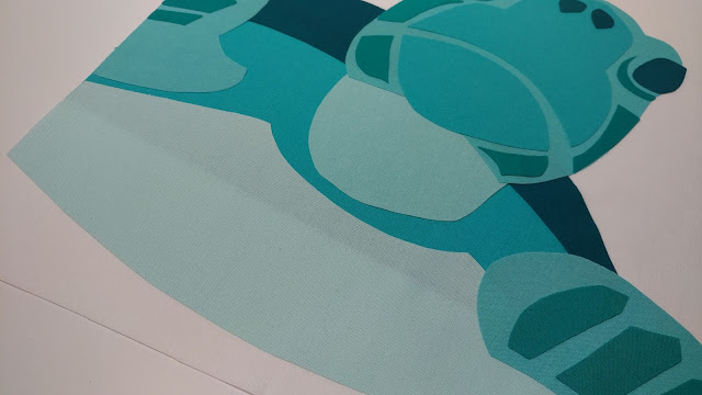 Sea turtle quilt block