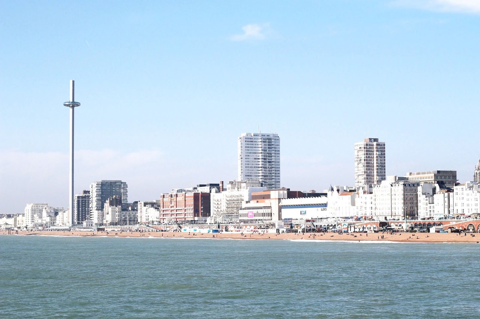 Brighton Seaside Landscape in the Sunshine
