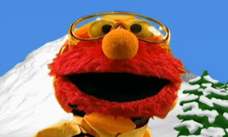 Dorothy imagines Elmo as a snowboarder. The Goggles protect his eyes when it snows while Elmo is snowboarding. Elmo's World Eyes Tickle Me Land
