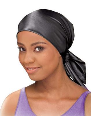 Black Satin Head Scarves