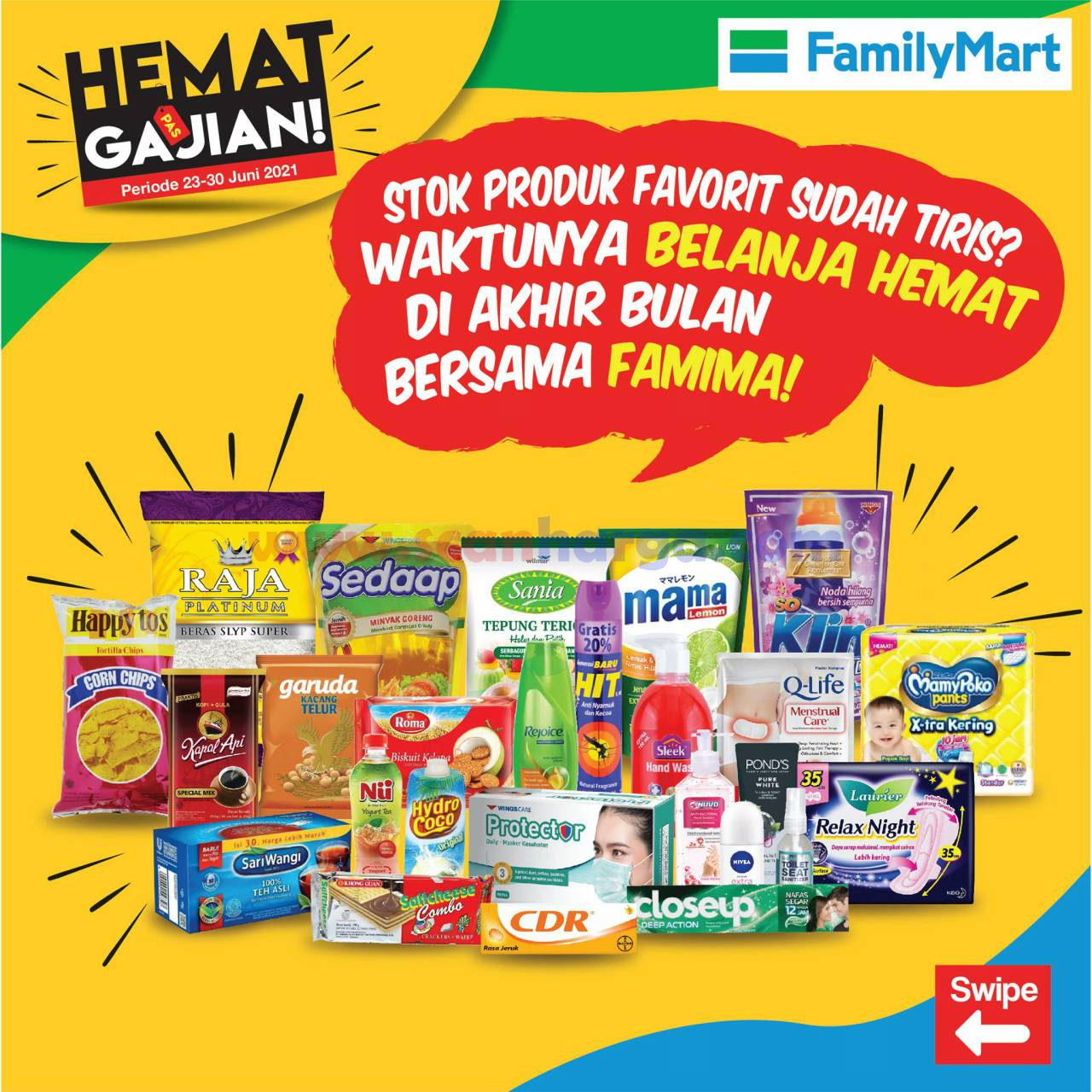 Katalog Promo Family Mart Hemat Pas Gajian 23 - 30 Juni 2021
