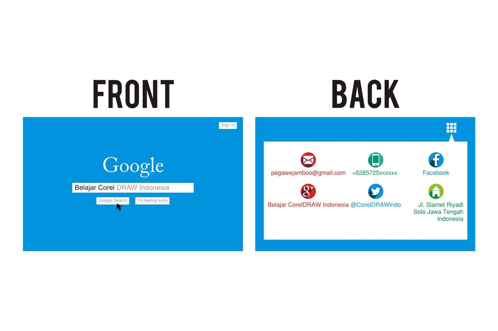 Desain Kartu Nama Google CDR - GRAFIK GRATIS