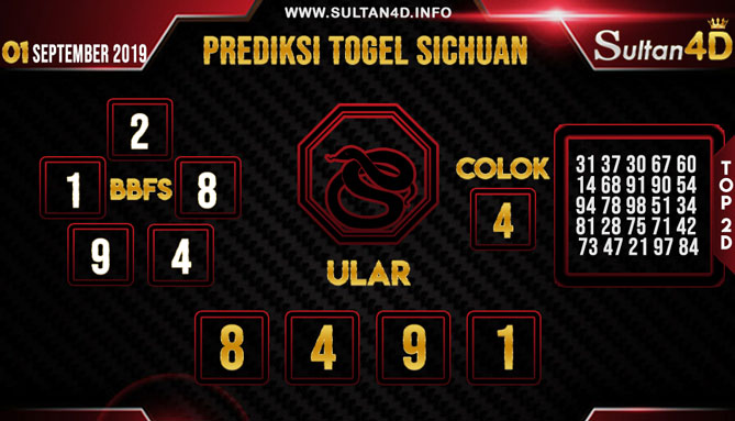 PREDIKSI TOGEL SICHUAN SULTAN4D 01 SEPTEMBER 2019