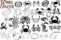 Meaning of Zodiac Cancer Tattoo designs