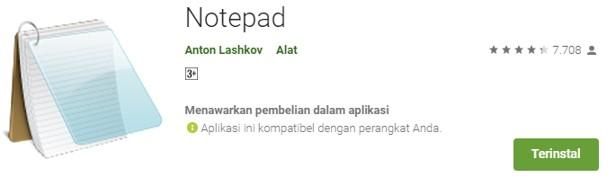 Aplikasi Notepad Untuk Ngeblog