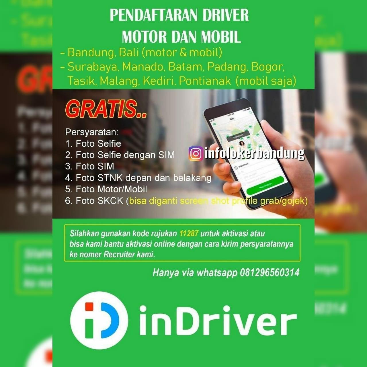 Lowongan Driver di Indriver Bandung Januari 2020